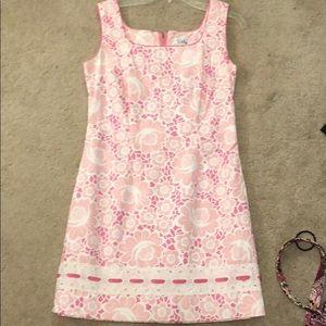 Vintage pink floral lily dress